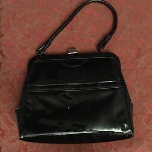 Handbags - Vintage black patent leather purse